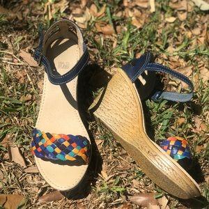 Mexican huarache style wedge sandal